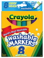 Ensemble de marqueurs Ultra-Clean Washable™ Crayola® - Pointe conique - Assortiment couleurs vives -