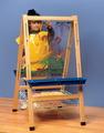 Chevalet réglable double avec tableaux transparents Childcraft® en acrylique avec porte-rouleau et r