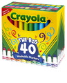 Ensemble de marqueurs Ultra-Clean Washable™ Crayola® - Pointe conique - Assortiment - Ensemble de 40