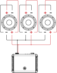 Three Dual Voice Coil Speakers in Parallel / Parallel