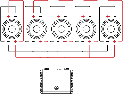 dual voice coil dvc wiring tutorial jl audio help center Diagram of a Home Theater System five dual voice coil speakers in parallel parallel