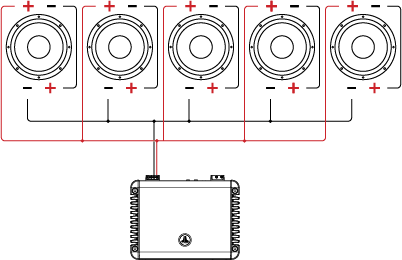 wiring configuration for 6 speakers in series parallel box wiring