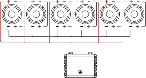 dual voice coil (dvc) wiring tutorial jl audio help center bridged 4 ohm speaker wiring diagram six dual voice coil speakers in series parallel