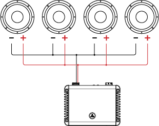 How To Wire 1 4ohm Subs To 2 Ohms: JL Audio » header » Support » Tutorials » Tutorial: Wiring Single rh:jlaudio.com,Design