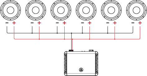 single voice coil (svc) wiring tutorial \u2013 jl audio help center Wiring 2 Ohm Impedance Speaker six single voice coil speakers in parallel