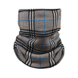 Plaid Knitted Neck Gaiter