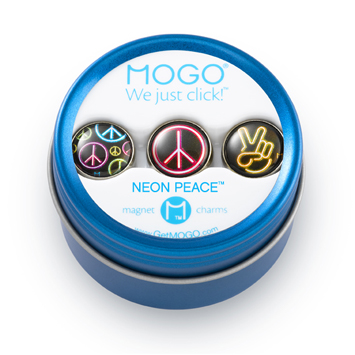 MOGO Charm Collection Neon Peace picture