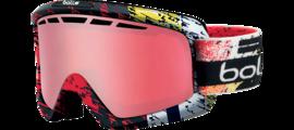 Nova II Matte Black and Red Polarized Vermillon