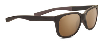 EGEO Sanded Brown / Dark Brown Polarized Drivers Gold