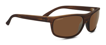 ALESSIO Soft touch Woodgrain Polarized Drivers Gold