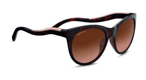 Valentina    Shiny Dark Tortoise/Satin Rose Gold Polarized Drivers Gradient picture