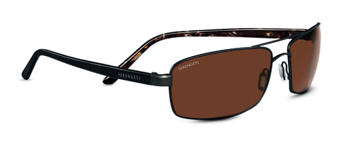 San Remo  Satin Dark Brown/Black Tortoise Polarized Drivers picture