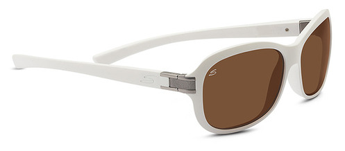 Isola  Sanded White Polarized Drivers picture