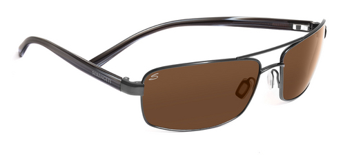 San Remo  Shiny Gunmetal/Gray Stripe  Polarized Drivers picture