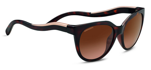 Lia   Shiny Dark Tortoise/Satin Rose Gold Polarized Drivers Gradient picture