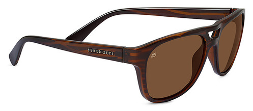 Tommaso Shiny Stripe Tortoise Polarized Drivers picture