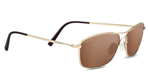 Corleone Satin Soft Gold Polarized  Drivers Gold picture