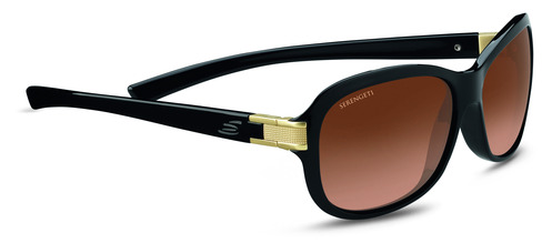 Isola Shiny Black/Satin Brass Polarized Drivers Gradient picture