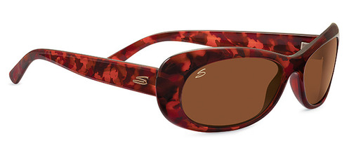 Bella  Shiny Red Tortoise Polarized Drivers picture