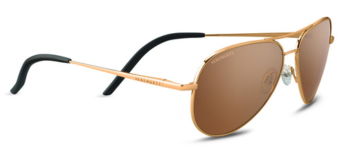 Carrara Small Shiny Bold Gold  Polarized Drivers Gold picture