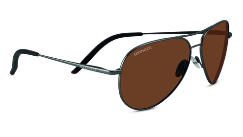 Carrara   Shiny Gunmetal Polarized Drivers picture