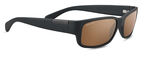 Merano Satin Black Polarized Drivers Gold picture