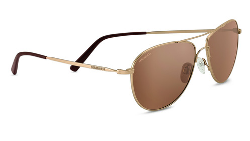 Alghero   Satin Soft Gold  Polarized Drivers Gold picture