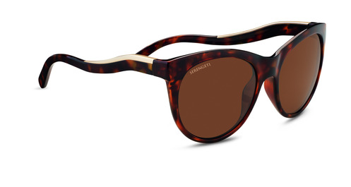 Valentina    Shiny Red Moss Tortoise/Satin Champagne Gold Polarized Drivers picture