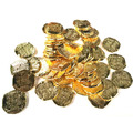 Bag of 50 Large Gold Doubloons