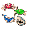 Sea Life Spinners - Set of 4