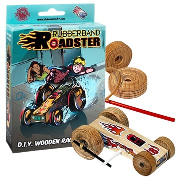 Rubberband Roadster Wooden Racecar Kit picture