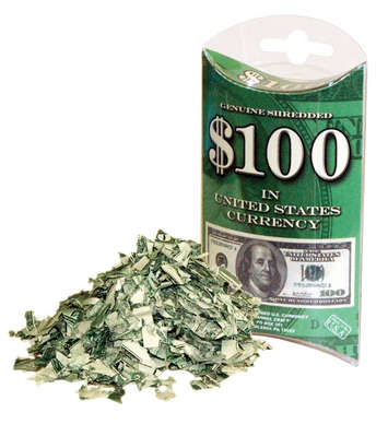 """Hundred Bucks"" Shredded Money picture"