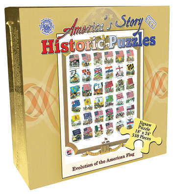 America's Story Jigsaw Puzzle - Evolution of the U.S. Flag picture