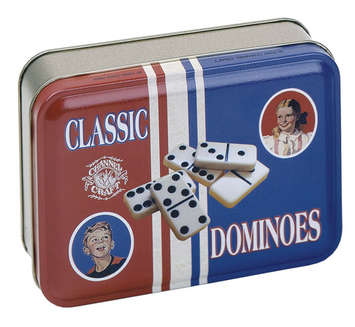 Dominoes in a Classic Toy Tin picture