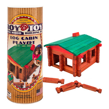 Roy Toy Log Cabin Canister (140+ pieces) picture