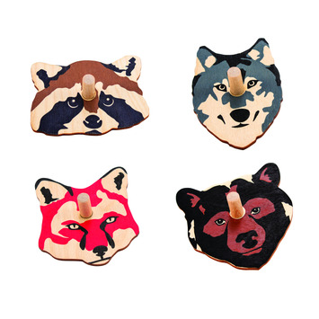 Woodland Animal Spinners - Set of 4 picture