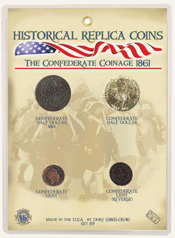 Replica Coin Set - Civil War Confederate Coinage picture