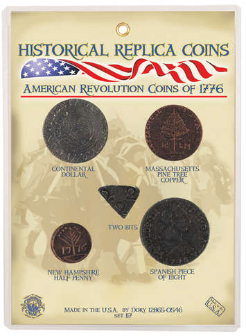 Replica Coin Set - Coins of the American Revolution 1776 picture