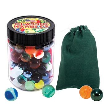 Marbles with Color Canvas Pouch picture