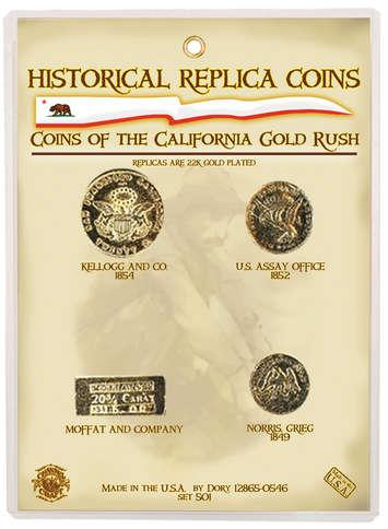 Replica Coin Set - California Gold Rush picture