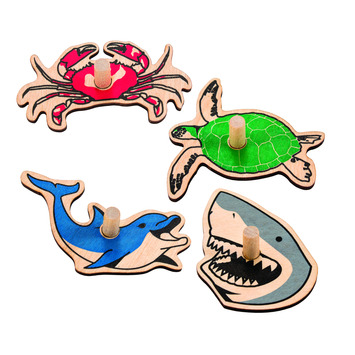 Sea Life Spinners - Set of 4 picture