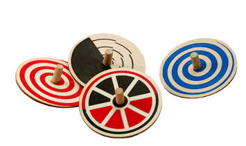 Whirligig Tops - Set of 4 picture