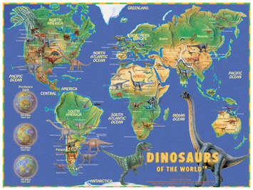 Dinosaurs of the World Jigsaw Puzzle picture