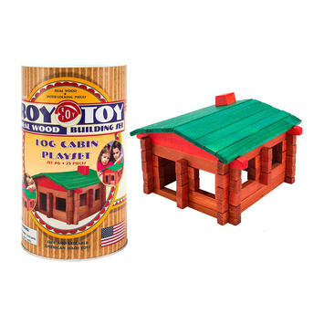 Roy Toy Log Cabin Mini Canister (73 pieces) picture