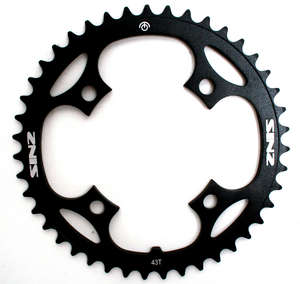 5MM 4 BOLT CHAINRING BCD 104MM 43T BLACK picture