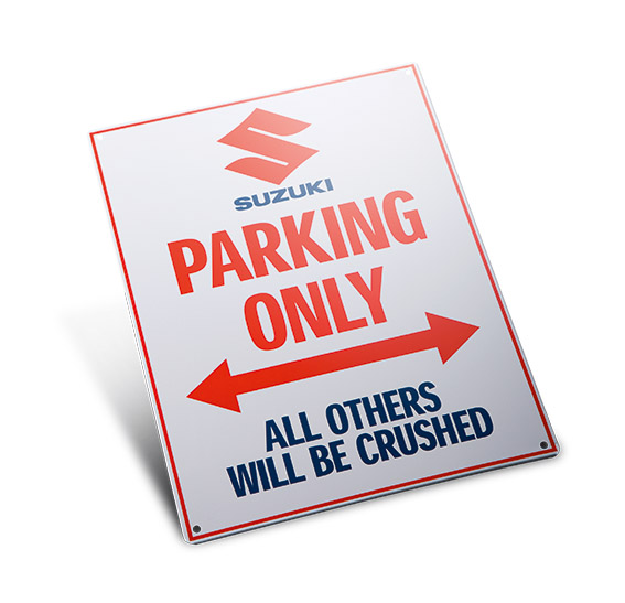 """""""Suzuki Parking Only"""" Schild Bild"""