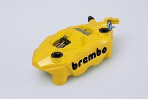 Brembo Bremssattel, gelb, rechte Seite