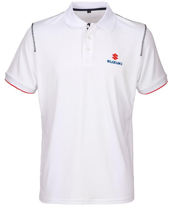 Team White Polohemd Bild
