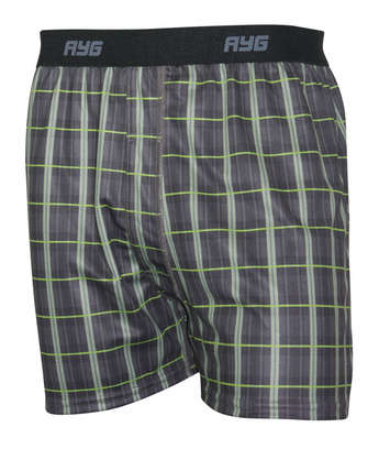 Performance Men's Boxer Print - Plaid - L picture