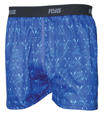 Performance Men's Tech Silk Boxer Print-Blue Paddles-2XLarge picture